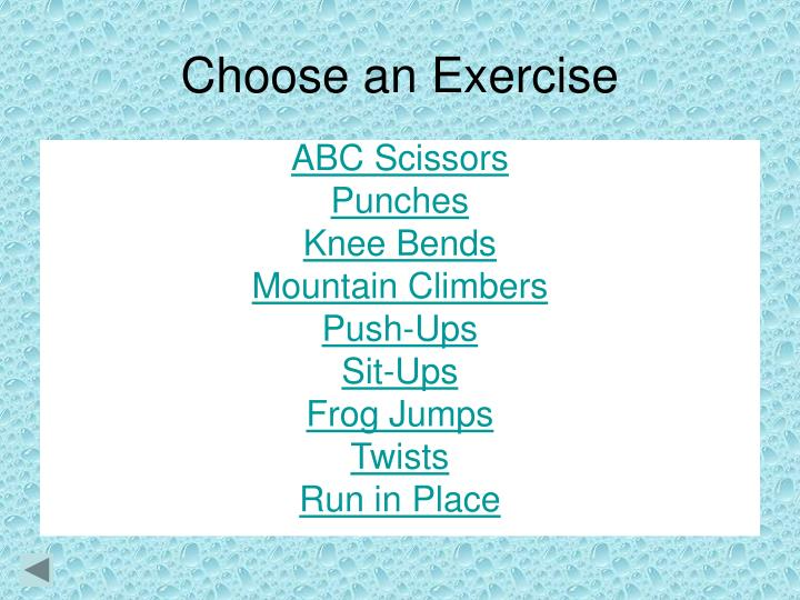 Choose an Exercise