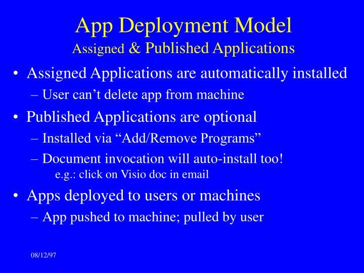 App Deployment Model