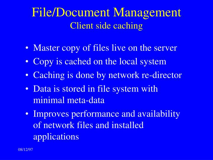 File/Document Management