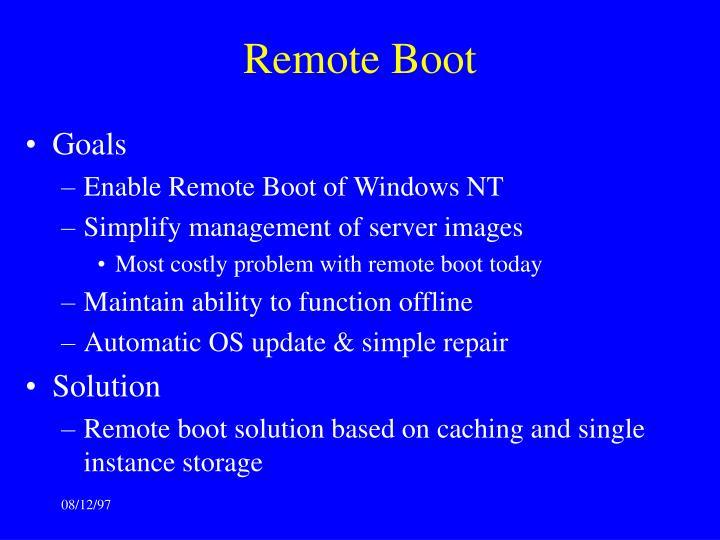 Remote Boot