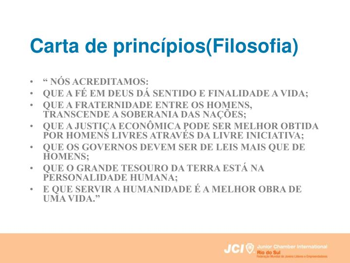 Carta de princípios(Filosofia)