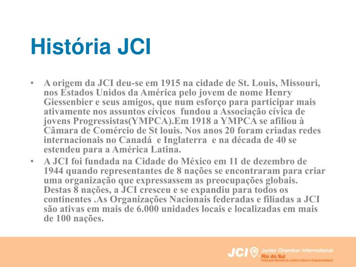 História JCI