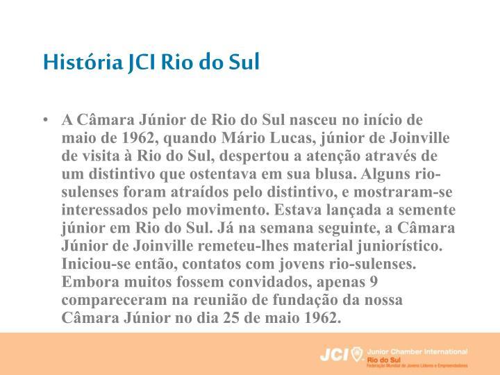 História JCI Rio do Sul