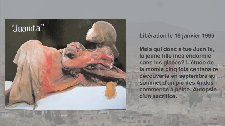 Libération le 16 janvier 1996