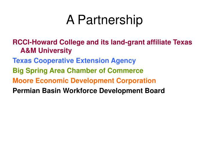 A Partnership