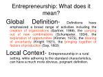 entrepreneurship what does it mean