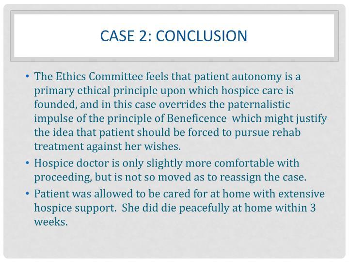 Case 2: Conclusion