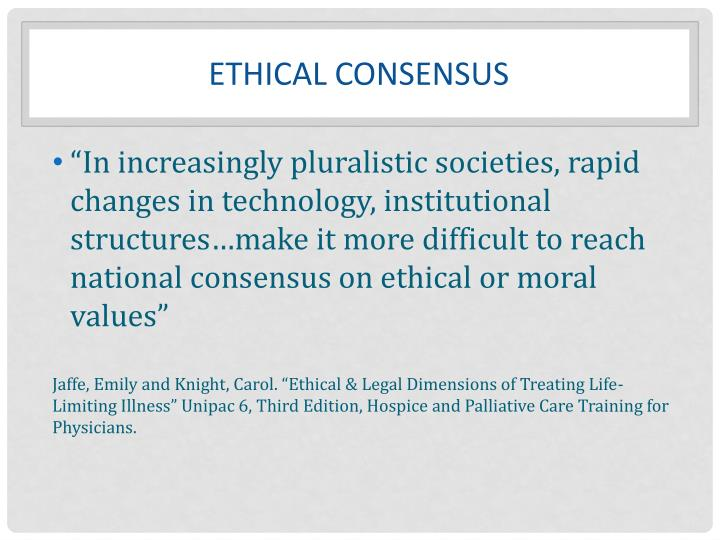 Ethical consensus