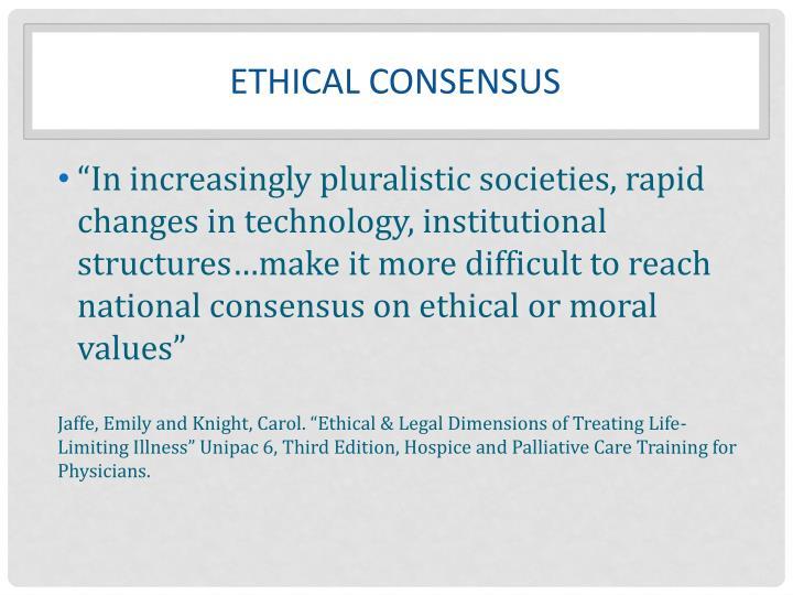 Ethical Consensus