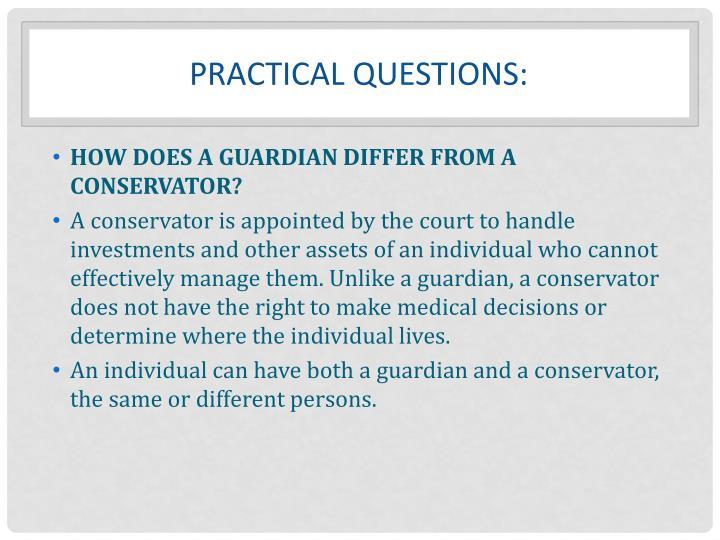 PRACTICAL Questions: