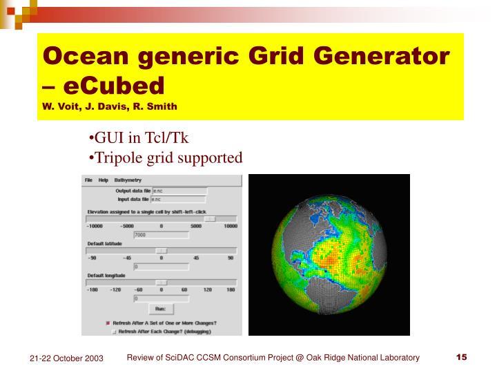 Ocean generic Grid Generator – eCubed