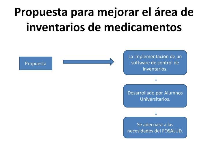 Propuesta para mejorar el área de inventarios de