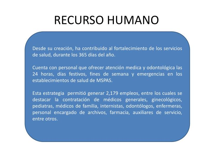 RECURSO HUMANO