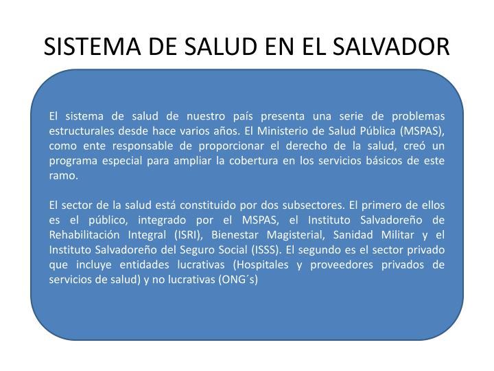 SISTEMA DE SALUD EN EL SALVADOR