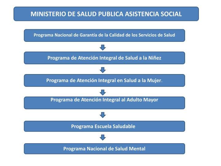 MINISTERIO DE SALUD PUBLICA ASISTENCIA SOCIAL