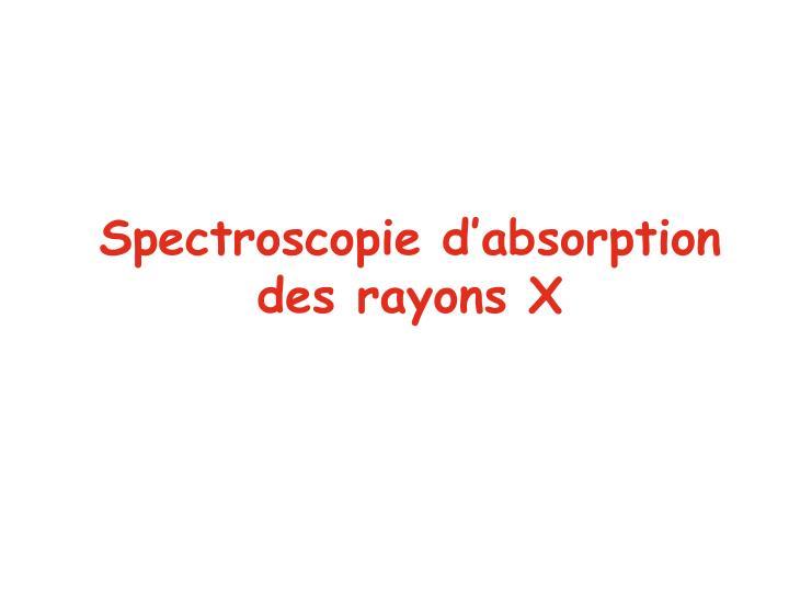 Spectroscopie d'absorption
