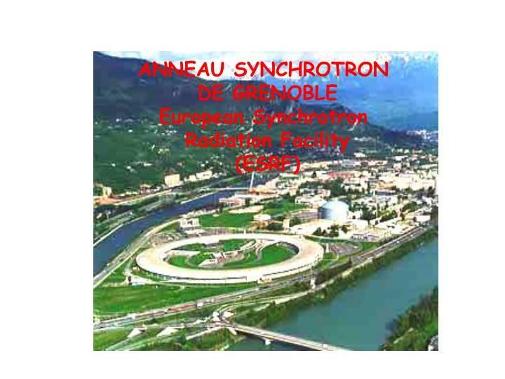 ANNEAU SYNCHROTRON