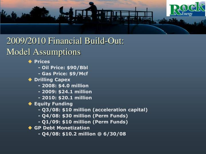 2009/2010 Financial Build-Out: