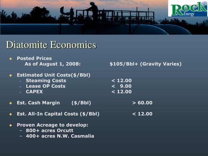 Diatomite Economics