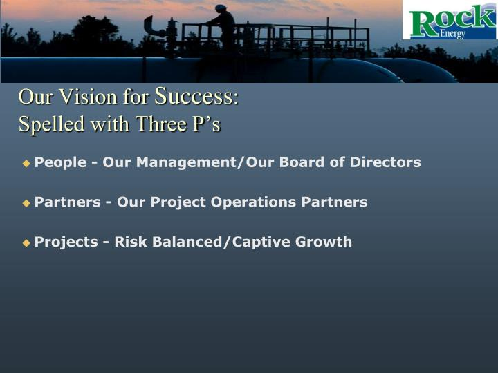 Our Vision for