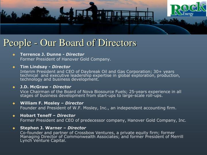 People - Our Board of Directors