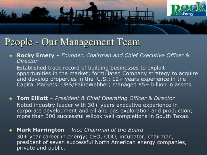 People - Our Management Team