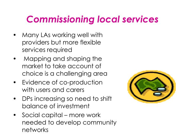 Commissioning local services
