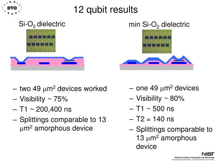 12 qubit results