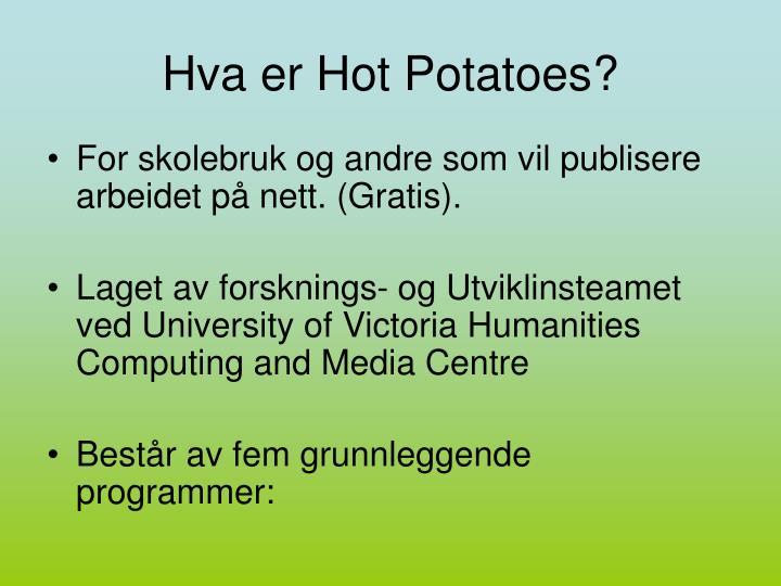 Hva er Hot Potatoes?