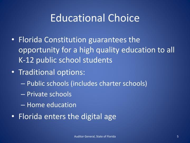 Educational Choice