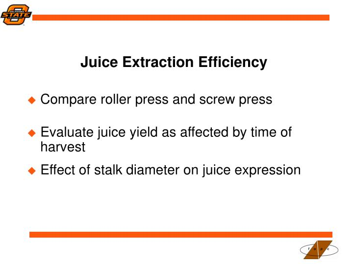 Juice Extraction Efficiency