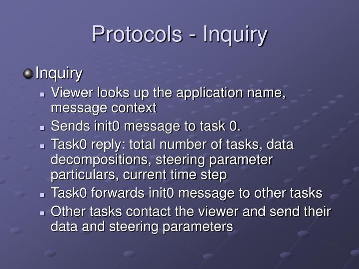 Protocols - Inquiry