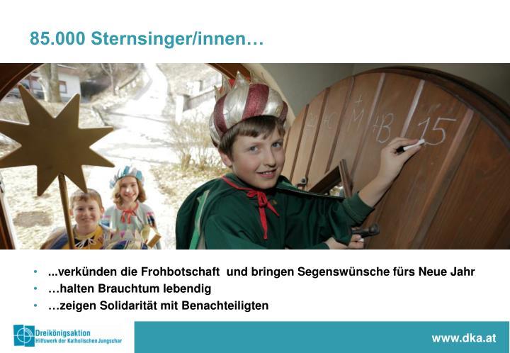 85.000 Sternsinger/innen…