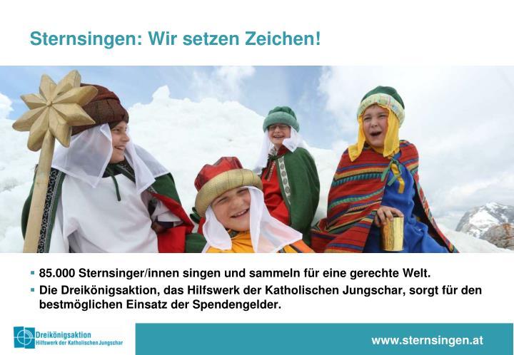 Sternsingen: Wir setzen Zeichen!