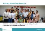 unsere partnerorganisationen
