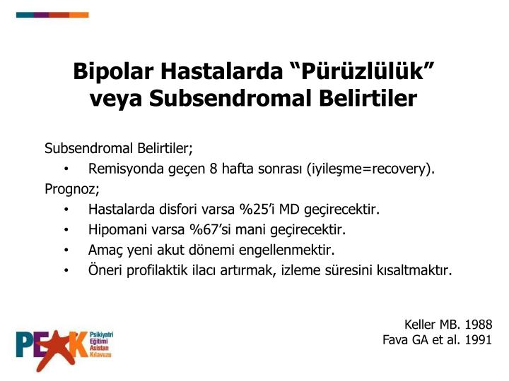 Bipolar Hastalarda Przllk