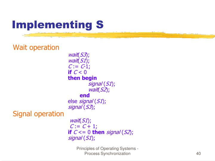 Implementing S