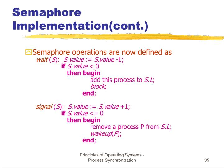 Semaphore Implementation(cont.)