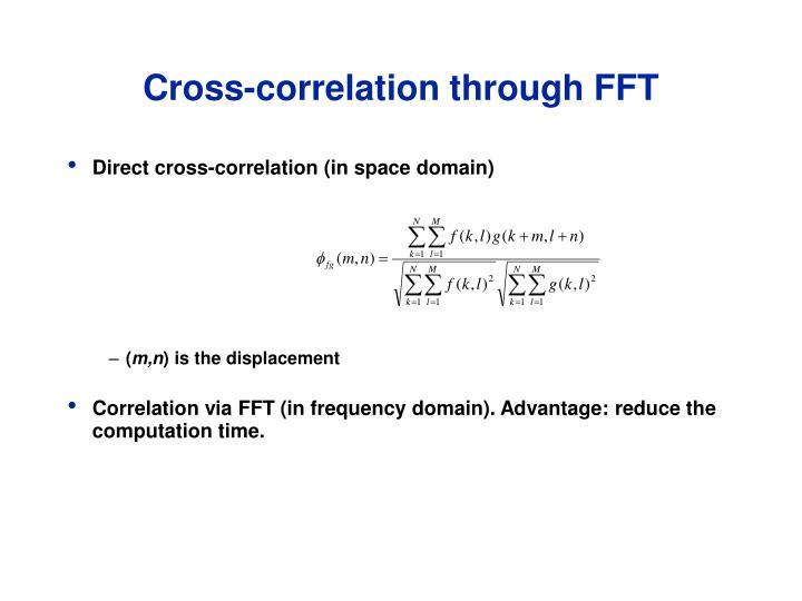 Cross-correlation through FFT