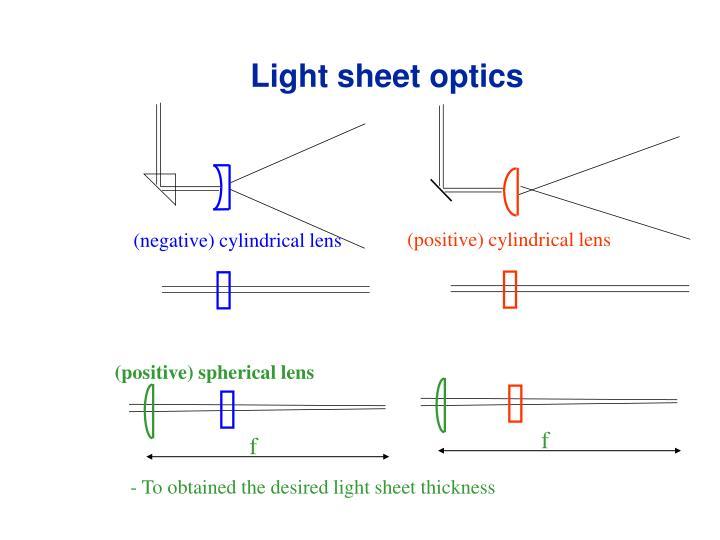 Light sheet optics