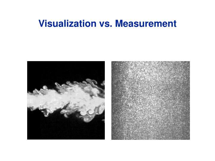 Visualization vs. Measurement