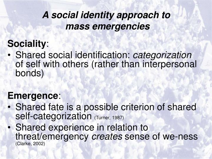 A social identity approach to