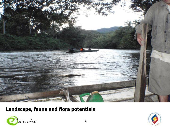Landscape, fauna and flora potentials