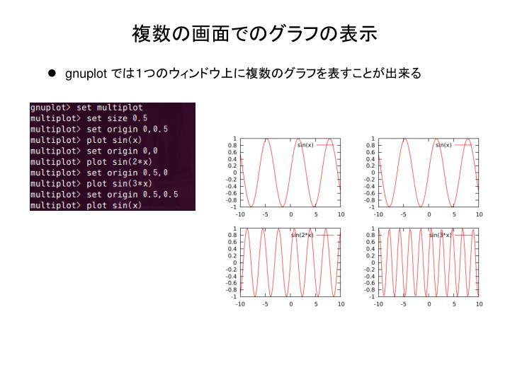 複数の画面でのグラフの表示