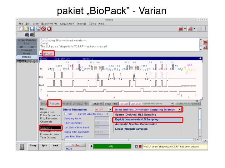 "pakiet ""BioPack"" - Varian"