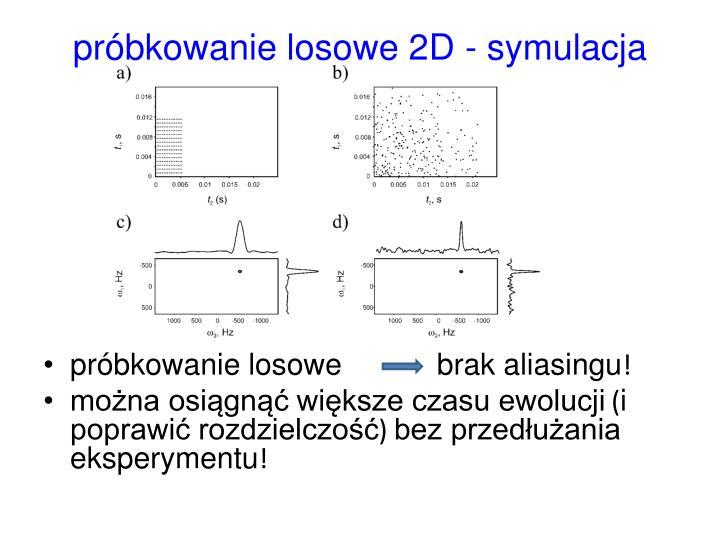 próbkowanie losowe 2D - symulacja