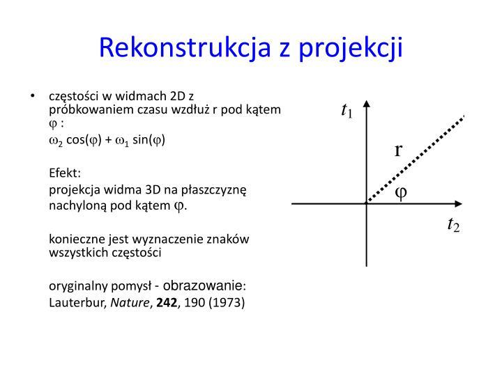 Rekonstrukcja z projekcji