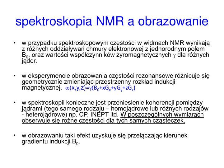 spektroskopia NMR a obrazowanie