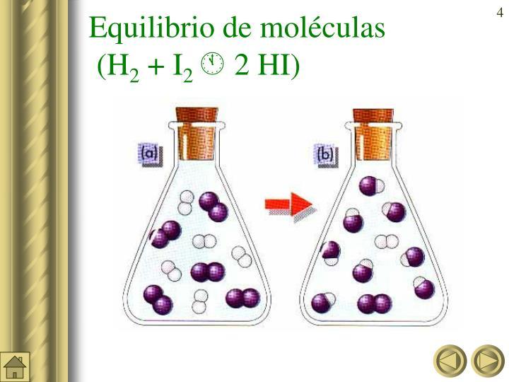 Equilibrio de moléculas