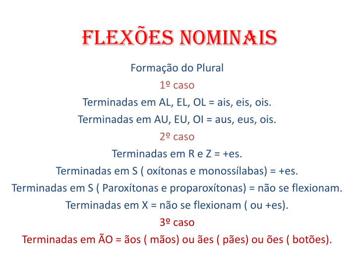 Flex es nominais